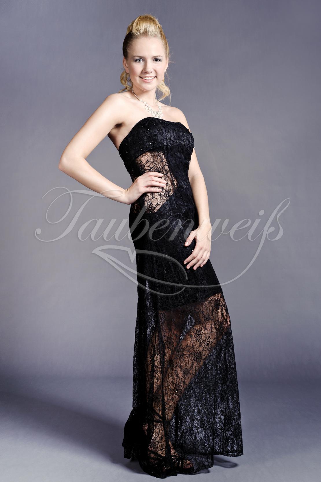 abendkleid tw0032a - abendkleid spitze schwarz transparent durchsichtig  sexy trägerlos