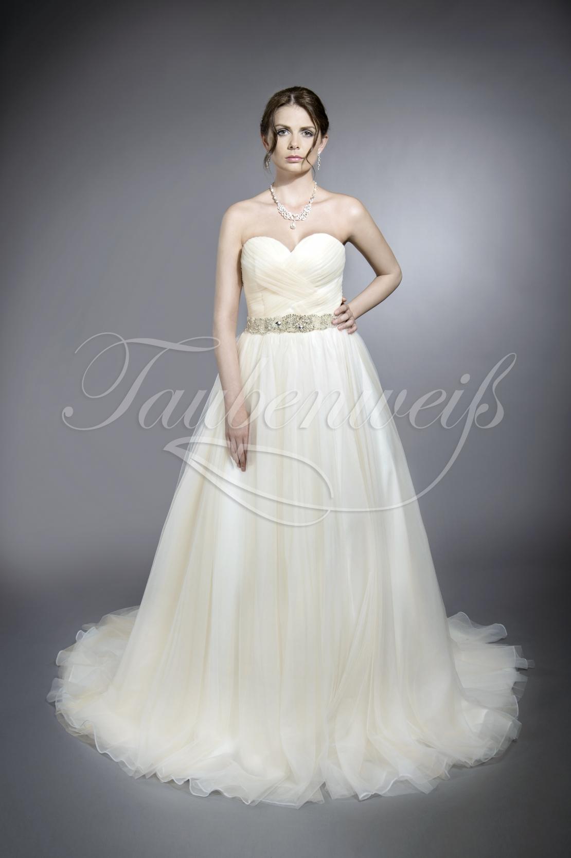 neue bilder von Treffen besserer Preis für Brautkleid TW0120B aus Tüll und Organza mit Strassgürtel